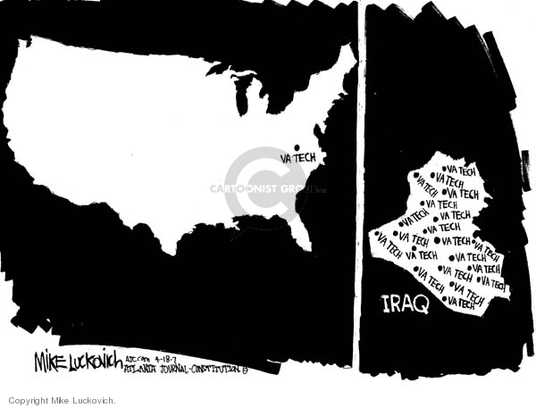 Cartoonist Mike Luckovich  Mike Luckovich's Editorial Cartoons 2007-04-18 number