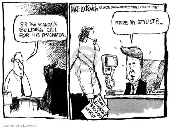 Cartoonist Mike Luckovich  Mike Luckovich's Editorial Cartoons 2007-04-24 Edward