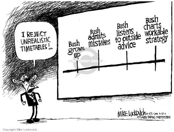 Cartoonist Mike Luckovich  Mike Luckovich's Editorial Cartoons 2007-04-27 advice