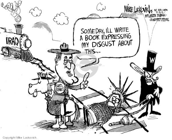Cartoonist Mike Luckovich  Mike Luckovich's Editorial Cartoons 2007-05-02 Bush accountability