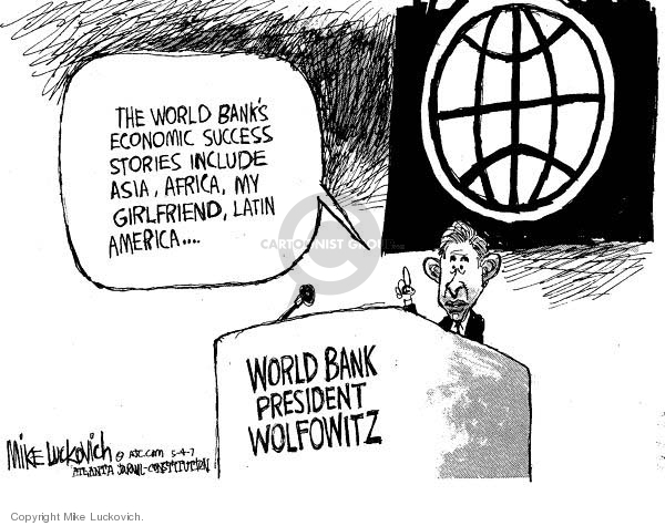 Cartoonist Mike Luckovich  Mike Luckovich's Editorial Cartoons 2007-05-04 bank