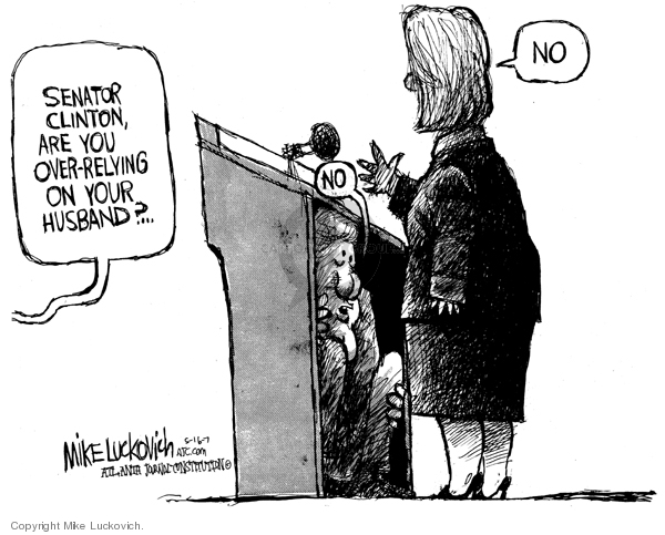 Mike Luckovich  Mike Luckovich's Editorial Cartoons 2007-05-16 Bill Clinton