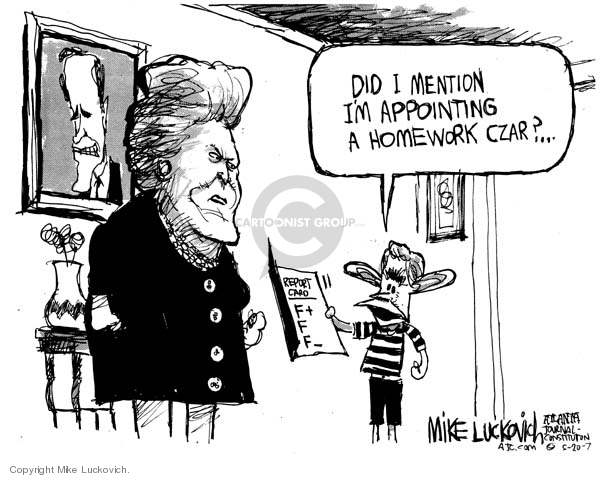 Mike Luckovich  Mike Luckovich's Editorial Cartoons 2007-05-20 mom