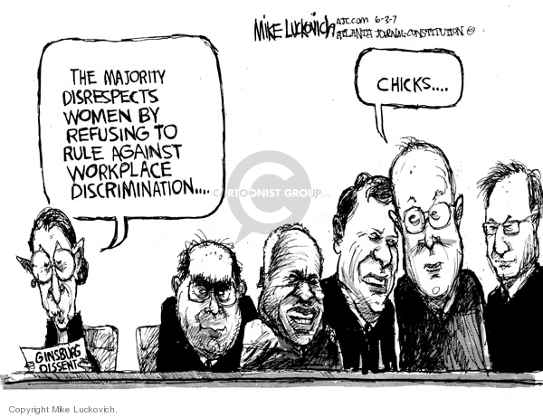 Cartoonist Mike Luckovich  Mike Luckovich's Editorial Cartoons 2007-06-03 woman