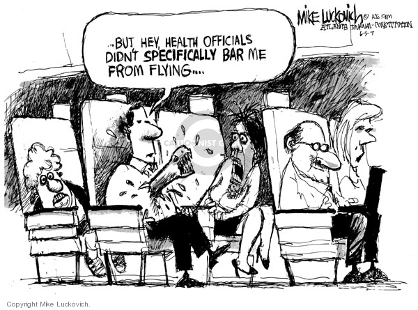 Cartoonist Mike Luckovich  Mike Luckovich's Editorial Cartoons 2007-06-05 illness
