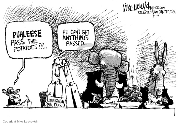 Mike Luckovich  Mike Luckovich's Editorial Cartoons 2007-07-01 opposition
