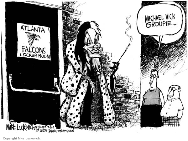 Cartoonist Mike Luckovich  Mike Luckovich's Editorial Cartoons 2007-07-21 animal rights