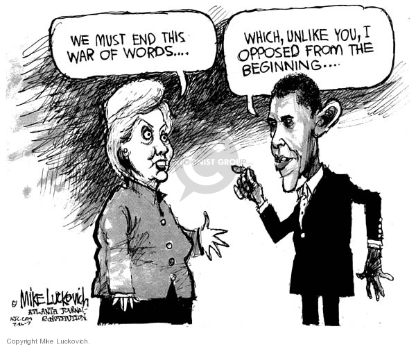 Mike Luckovich  Mike Luckovich's Editorial Cartoons 2007-07-26 Barack Obama