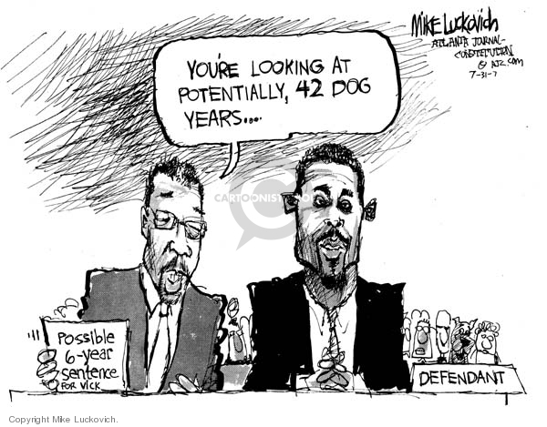 Cartoonist Mike Luckovich  Mike Luckovich's Editorial Cartoons 2007-07-31 sentence