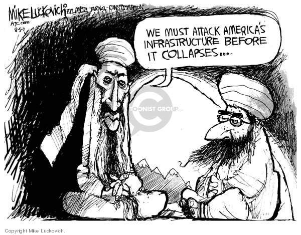 Cartoonist Mike Luckovich  Mike Luckovich's Editorial Cartoons 2007-08-05 accident