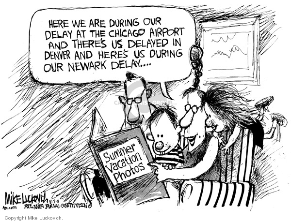 Cartoonist Mike Luckovich  Mike Luckovich's Editorial Cartoons 2007-08-07 family