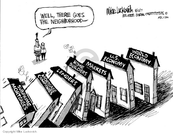 Mike Luckovich  Mike Luckovich's Editorial Cartoons 2007-08-13 stock market