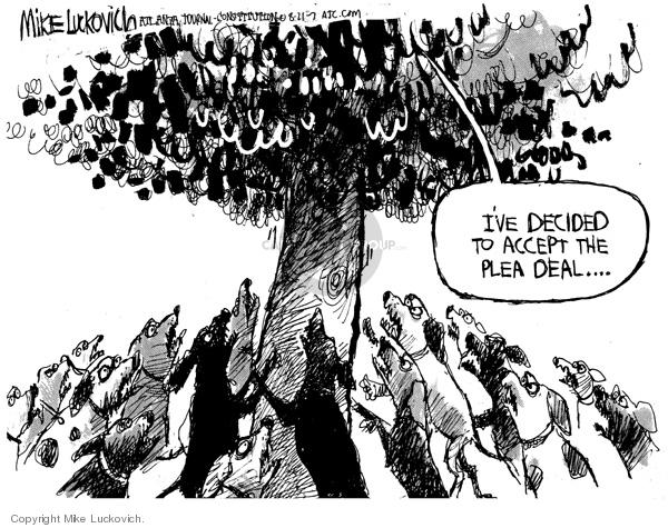 Cartoonist Mike Luckovich  Mike Luckovich's Editorial Cartoons 2007-08-21 plea