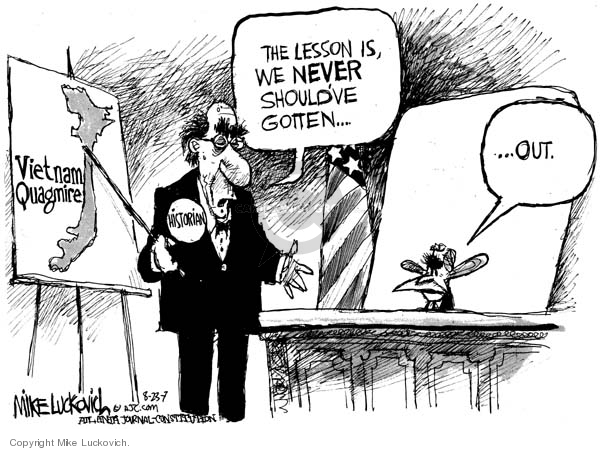 Cartoonist Mike Luckovich  Mike Luckovich's Editorial Cartoons 2007-08-23 answer
