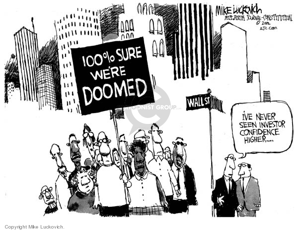 Cartoonist Mike Luckovich  Mike Luckovich's Editorial Cartoons 2007-09-07 wall