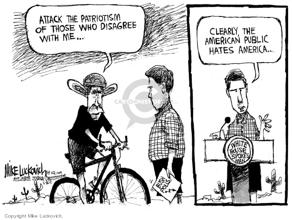 Mike Luckovich  Mike Luckovich's Editorial Cartoons 2007-09-11 opposition