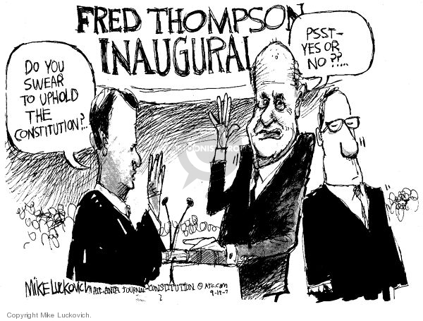 Cartoonist Mike Luckovich  Mike Luckovich's Editorial Cartoons 2007-09-19 answer