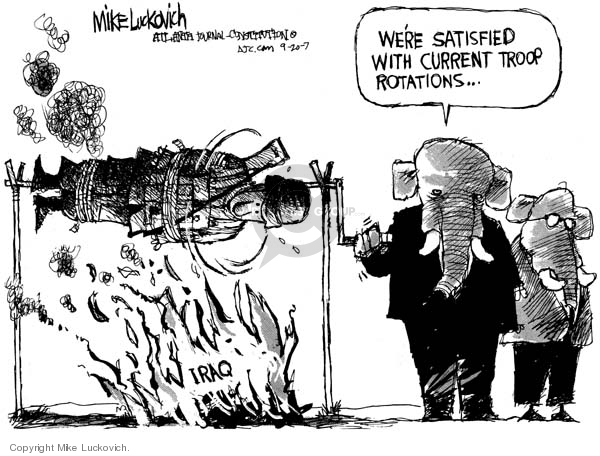 Mike Luckovich  Mike Luckovich's Editorial Cartoons 2007-09-20 soldier