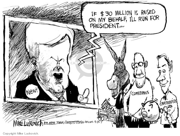 Mike Luckovich  Mike Luckovich's Editorial Cartoons 2007-09-25 comedian