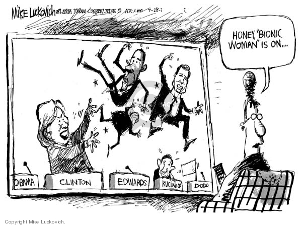 Cartoonist Mike Luckovich  Mike Luckovich's Editorial Cartoons 2007-09-28 woman