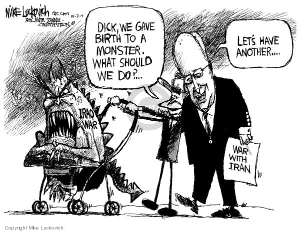 Cartoonist Mike Luckovich  Mike Luckovich's Editorial Cartoons 2007-10-02 Dick Cheney