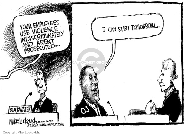 Mike Luckovich  Mike Luckovich's Editorial Cartoons 2007-10-03 congressional committee