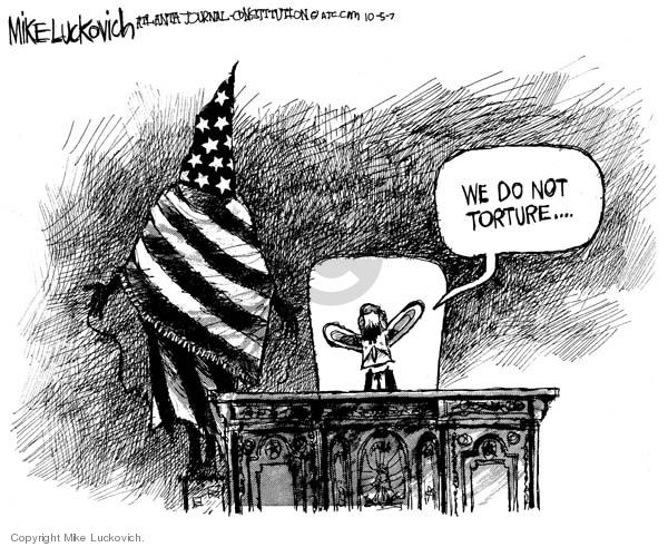 Cartoonist Mike Luckovich  Mike Luckovich's Editorial Cartoons 2007-10-05 George W. Bush