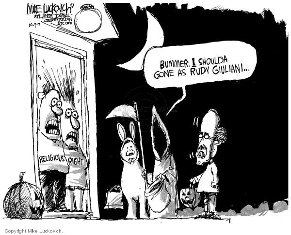 Mike Luckovich  Mike Luckovich's Editorial Cartoons 2007-10-09 Rudy Giuliani