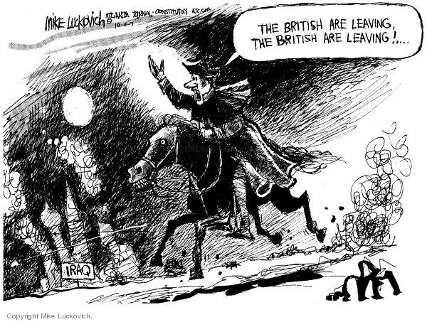 Cartoonist Mike Luckovich  Mike Luckovich's Editorial Cartoons 2007-10-11 England