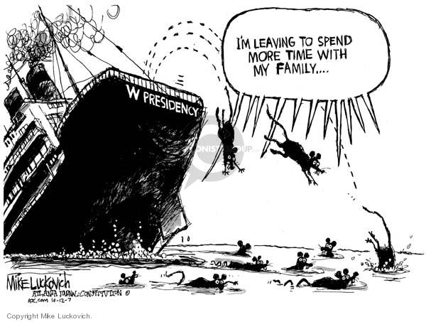 Cartoonist Mike Luckovich  Mike Luckovich's Editorial Cartoons 2007-10-12 Presidency
