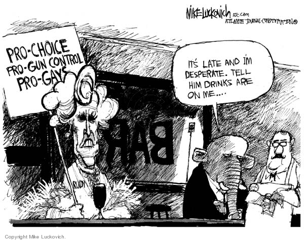 Mike Luckovich  Mike Luckovich's Editorial Cartoons 2007-10-23 Rudy Giuliani