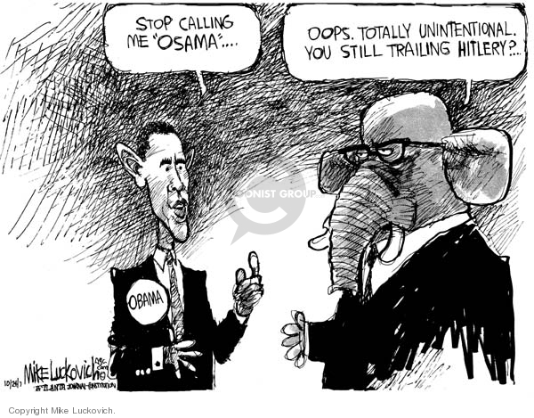 Mike Luckovich  Mike Luckovich's Editorial Cartoons 2007-10-24 Barack Obama