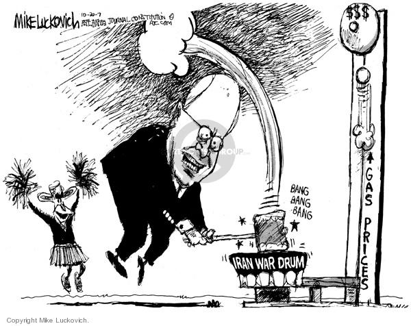 Iran War Drum.  Bang bang bang.  Gas prices.