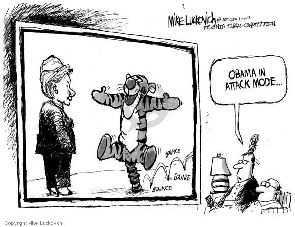 Mike Luckovich  Mike Luckovich's Editorial Cartoons 2007-11-01 Barack Obama