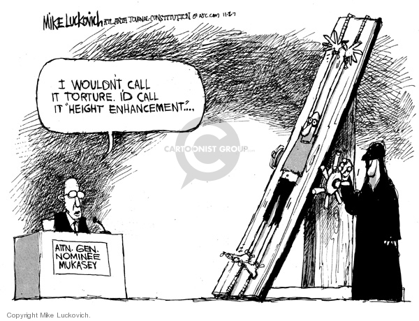 Cartoonist Mike Luckovich  Mike Luckovich's Editorial Cartoons 2007-11-02 attention