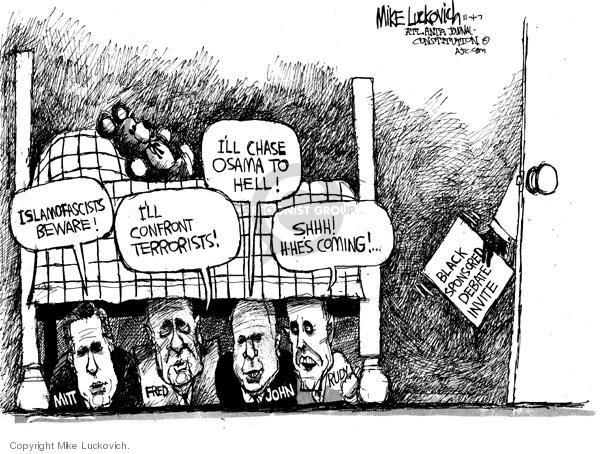 Mike Luckovich  Mike Luckovich's Editorial Cartoons 2007-11-02 Rudy Giuliani