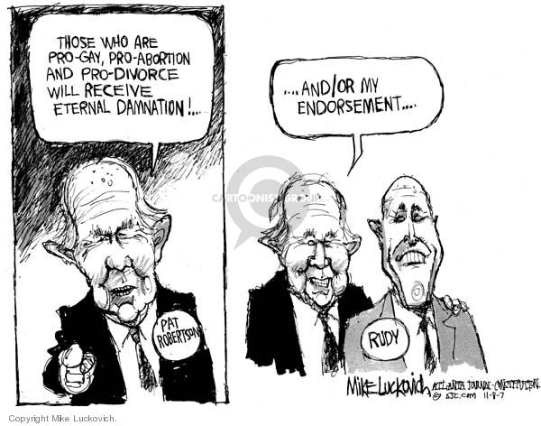 Mike Luckovich  Mike Luckovich's Editorial Cartoons 2007-11-08 Rudy Giuliani