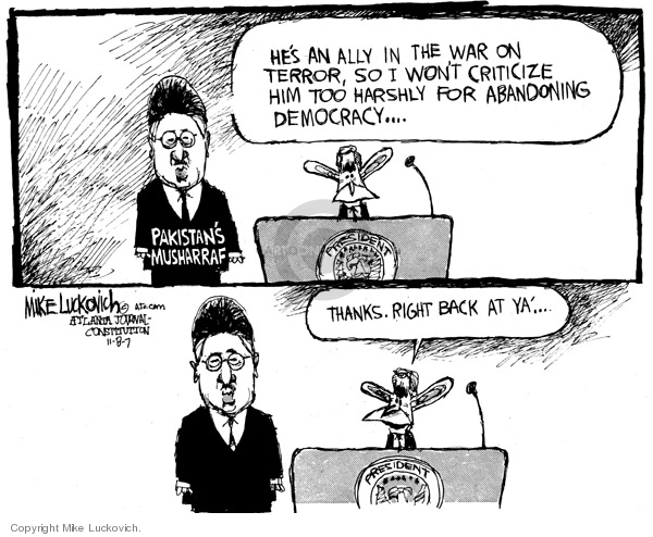 Mike Luckovich  Mike Luckovich's Editorial Cartoons 2007-11-12 emergency