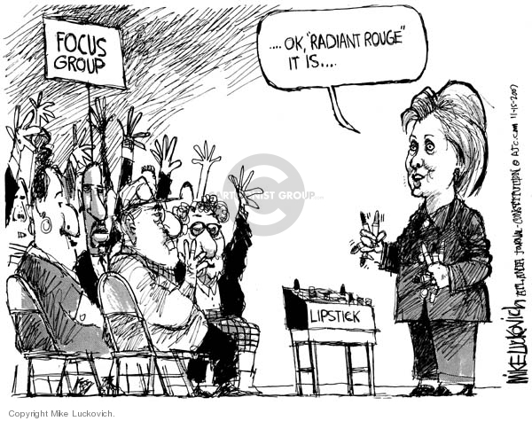 Cartoonist Mike Luckovich  Mike Luckovich's Editorial Cartoons 2007-11-15 woman