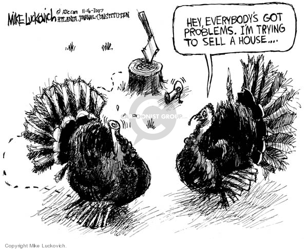 Cartoonist Mike Luckovich  Mike Luckovich's Editorial Cartoons 2007-11-16 mortgage