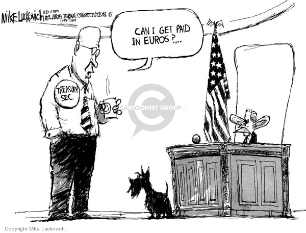 Mike Luckovich  Mike Luckovich's Editorial Cartoons 2007-11-19 currency
