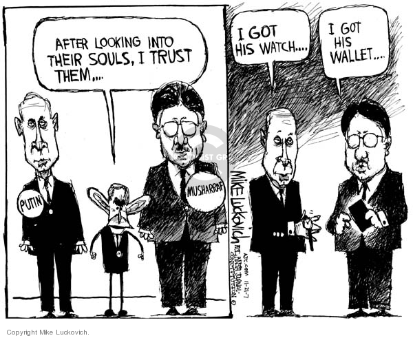 Cartoonist Mike Luckovich  Mike Luckovich's Editorial Cartoons 2007-11-21 Russia
