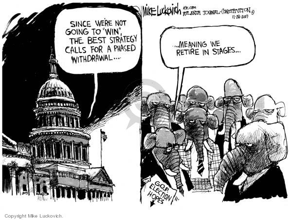 Mike Luckovich  Mike Luckovich's Editorial Cartoons 2007-11-28 republican politician