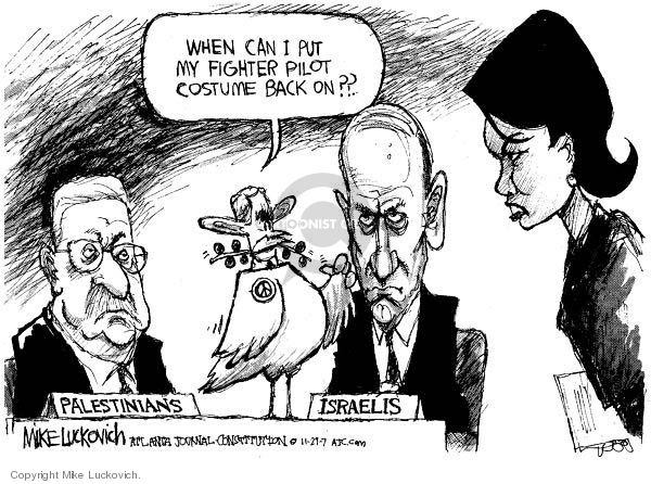 Mike Luckovich  Mike Luckovich's Editorial Cartoons 2007-11-29 Israel