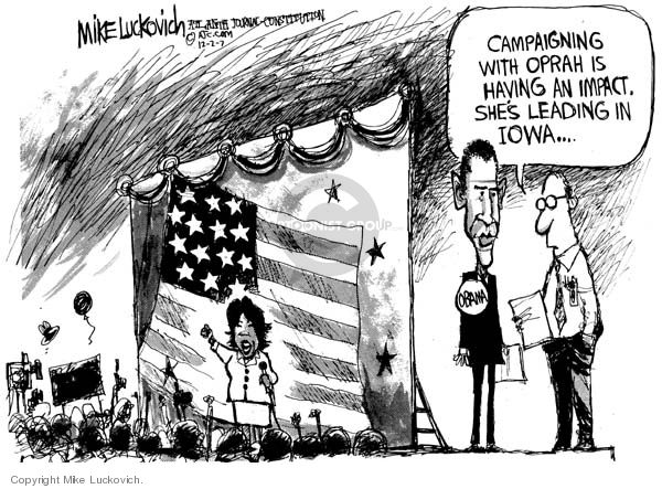 Mike Luckovich  Mike Luckovich's Editorial Cartoons 2007-11-30 Barack Obama