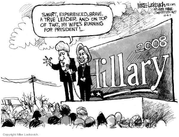 Mike Luckovich  Mike Luckovich's Editorial Cartoons 2007-12-03 Bill Clinton
