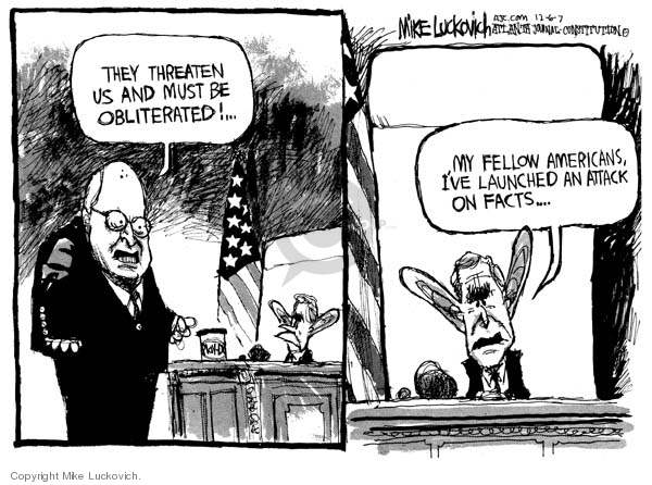 Mike Luckovich  Mike Luckovich's Editorial Cartoons 2007-12-06 opposition