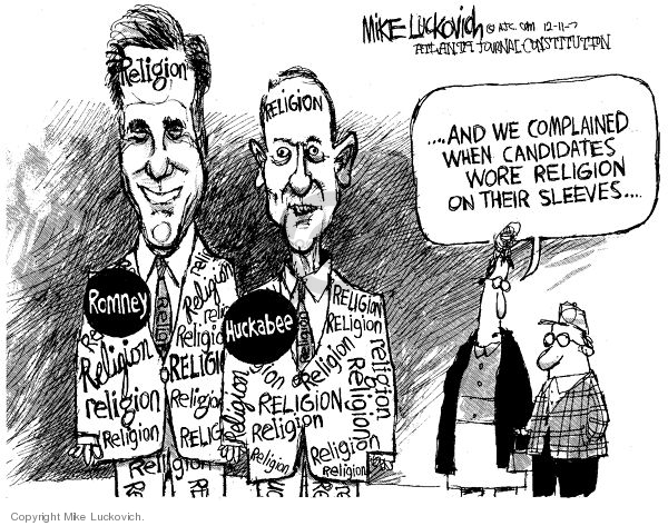 Mike Luckovich  Mike Luckovich's Editorial Cartoons 2007-12-11 Mike Huckabee