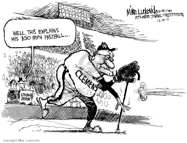 Cartoonist Mike Luckovich  Mike Luckovich's Editorial Cartoons 2007-12-14 pitch