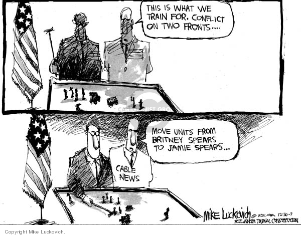 Cartoonist Mike Luckovich  Mike Luckovich's Editorial Cartoons 2007-12-30 cable television